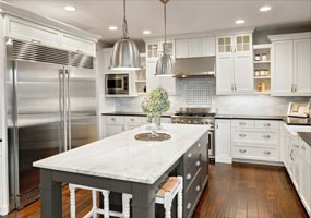 Residential Kitchen White Modern